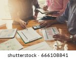 business and finance concept of ... | Shutterstock . vector #666108841