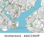 colorful istanbul vector city... | Shutterstock .eps vector #666114649