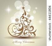 artistic vector christmas tree... | Shutterstock .eps vector #66611806