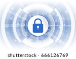 cybersecurity. abstract... | Shutterstock .eps vector #666126769