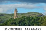 wallace monument with ochil... | Shutterstock . vector #666131599