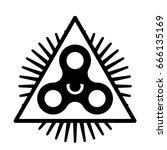 omnipresent fidget spinner icon ... | Shutterstock .eps vector #666135169