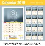 vector calendar planner...   Shutterstock .eps vector #666137395