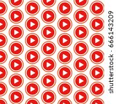 pattern background play button... | Shutterstock .eps vector #666143209