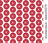 pattern background play button... | Shutterstock .eps vector #666143275