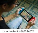 bangkok  thailand   june 25 ... | Shutterstock . vector #666146395