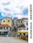 montenegro  herceg novi   may... | Shutterstock . vector #666148345
