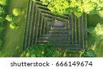 aerial photo medium altitude... | Shutterstock . vector #666149674