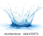 splash   fresh drop in water  ... | Shutterstock . vector #666153571