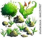 cartoon vector illustration.... | Shutterstock .eps vector #666154987