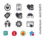 valentine day love icons. love...