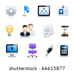 office end business icons | Shutterstock .eps vector #66615877