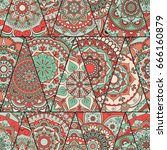 mandalas pattern. vintage...   Shutterstock .eps vector #666160879