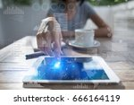 business  internet and...   Shutterstock . vector #666164119