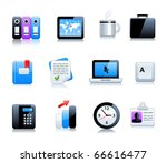 office end business icons | Shutterstock .eps vector #66616477