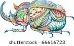 abstract animal     beetle   Shutterstock .eps vector #66616723