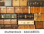 Old Travel Suitcases  Abstract...