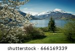panorama of nordfjord in... | Shutterstock . vector #666169339