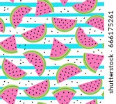 seamless pattern with... | Shutterstock .eps vector #666175261