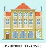 renaissance house. european... | Shutterstock .eps vector #666179179