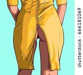 close up of a sexy woman's ass... | Shutterstock .eps vector #666181069