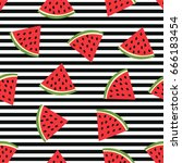 seamless pattern with... | Shutterstock .eps vector #666183454