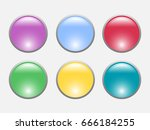 color buttons set isolated on... | Shutterstock .eps vector #666184255