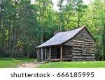 carter shields cabin at cades... | Shutterstock . vector #666185995