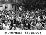 milan  italy   june 24  people... | Shutterstock . vector #666187015