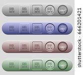 document folders icons on... | Shutterstock .eps vector #666201421