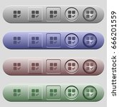 component ok icons on rounded... | Shutterstock .eps vector #666201559