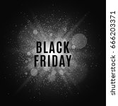 black friday. text on the... | Shutterstock .eps vector #666203371