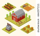 isometric big set infographics... | Shutterstock .eps vector #666207211