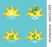summer label lettering...   Shutterstock .eps vector #666211309