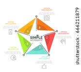 pentagonal diagram divided into ...   Shutterstock .eps vector #666211879