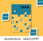 speech bubbles' blocks abstract ... | Shutterstock .eps vector #666211999