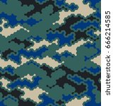 camouflage pattern background... | Shutterstock .eps vector #666214585