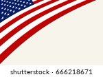 usa flag background vector... | Shutterstock .eps vector #666218671