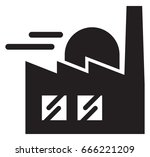 industry building icon  ... | Shutterstock .eps vector #666221209