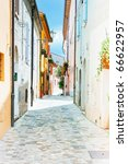 picturesque alley in the... | Shutterstock . vector #66622957