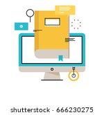 e learning  online education... | Shutterstock .eps vector #666230275