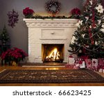 Christmas Tree And Fireplace...