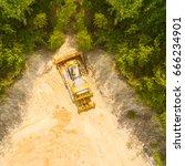 deforestation of construction... | Shutterstock . vector #666234901