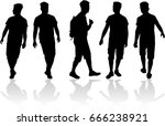 black silhouette of a man. | Shutterstock .eps vector #666238921