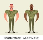 funny cartoon characters   two... | Shutterstock .eps vector #666247519