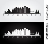 Rochester Usa Skyline And...