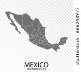 transparent   grey map of... | Shutterstock .eps vector #666248977