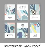 set of creative universal... | Shutterstock .eps vector #666249295