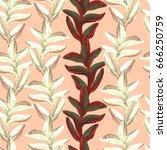 ethnic seamless pattern.... | Shutterstock . vector #666250759