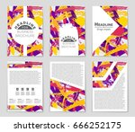 abstract vector layout... | Shutterstock .eps vector #666252175